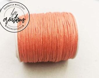 10m waxed cotton cord - ORANGE CORAIL