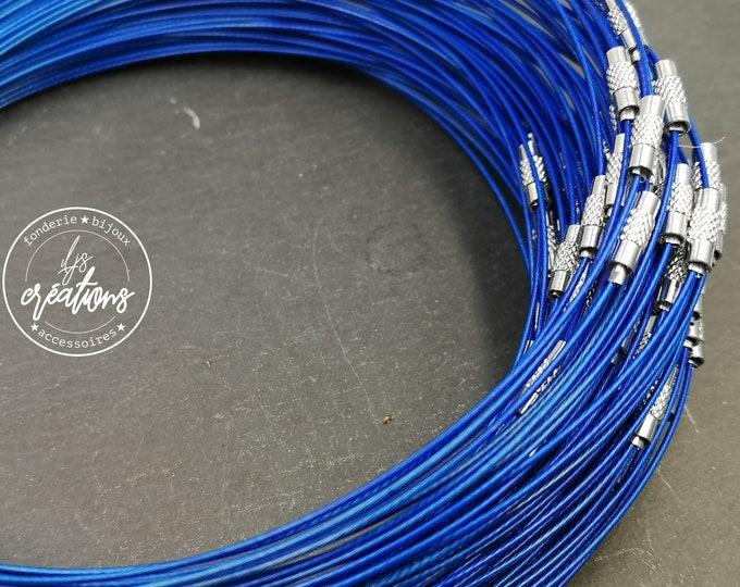 """1 neck neck cable """"Blue"""" - 45cm"""