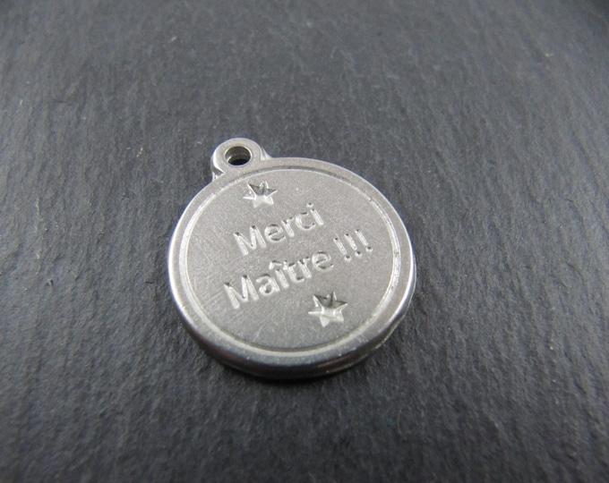 Iron medal white 17mm - thank you teacher