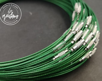 "1 neck neck cable ""Dark green"" - 45cm"