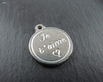 Iron medal white 17mm - I love you
