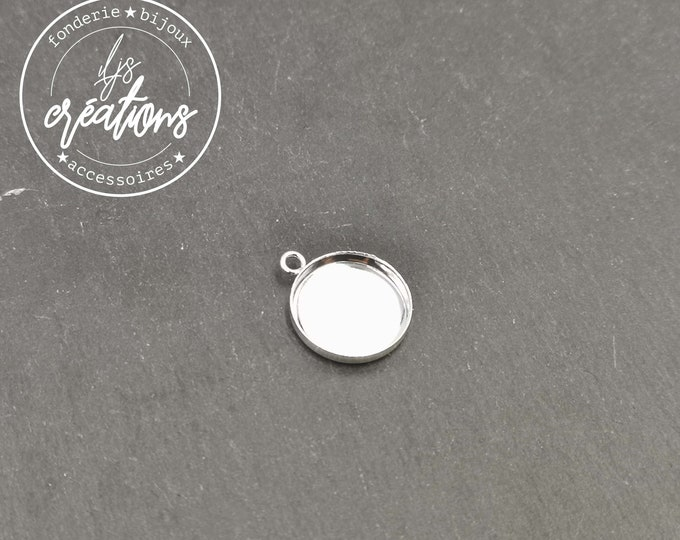Pendant - 1 ring - brass finish silver 925