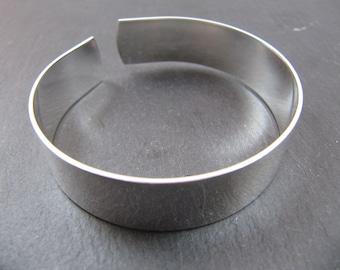 Made in France - 13mm Ribbon Bracelet - 925 Silver finish brass