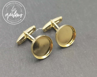 Cufflinks - Laiton gold finish