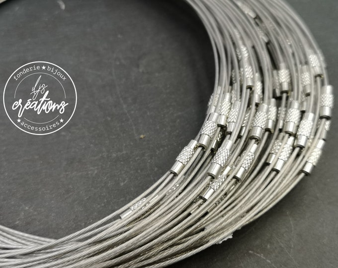 "1 neck neck cable ""light grey"" - 45cm"
