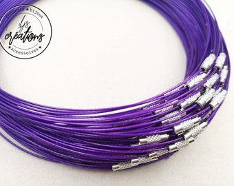 "1 neck neck cable ""Dark Violet"" - 45cm"