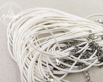 """1 neck circums in cotton """"white"""" 2mm"""