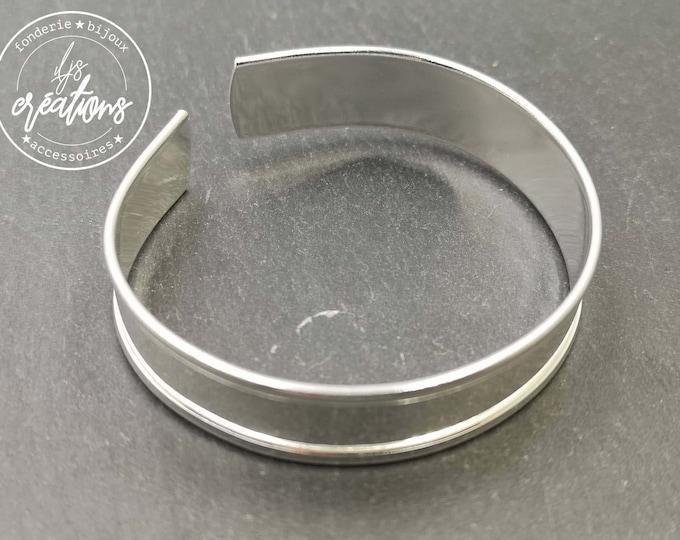 New - 12.50mm wide ribbon bracelet - 925 silver finish brass/white iron