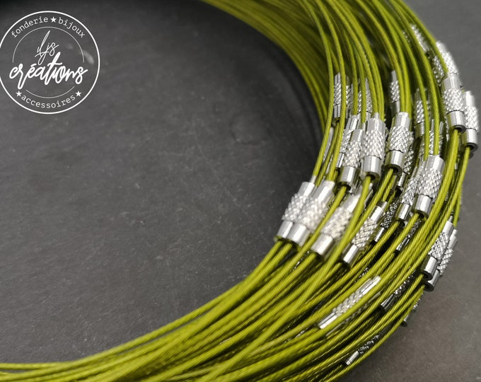 """1 neck neck cable """"Green anise"""" - 45cm"""