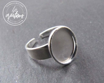 8x10X1.5mm silver brass child ring