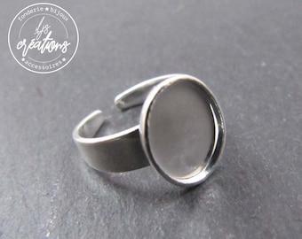 8x10X1.5mm silver brass child ring