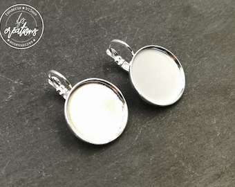 Earrings with sleepers ø18x1, 5mm-brass finish Silver 925-made in France