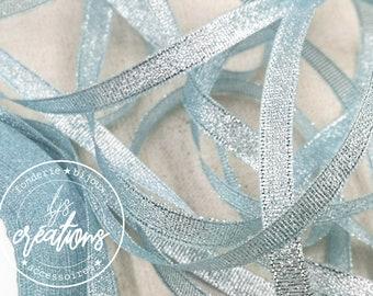 10m - 6mm ribbon - Metallic sky blue