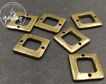 18x20mm connector - brass finish tin - made in France
