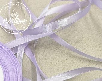 10m - 6mm satin ribbon - Clear Parma