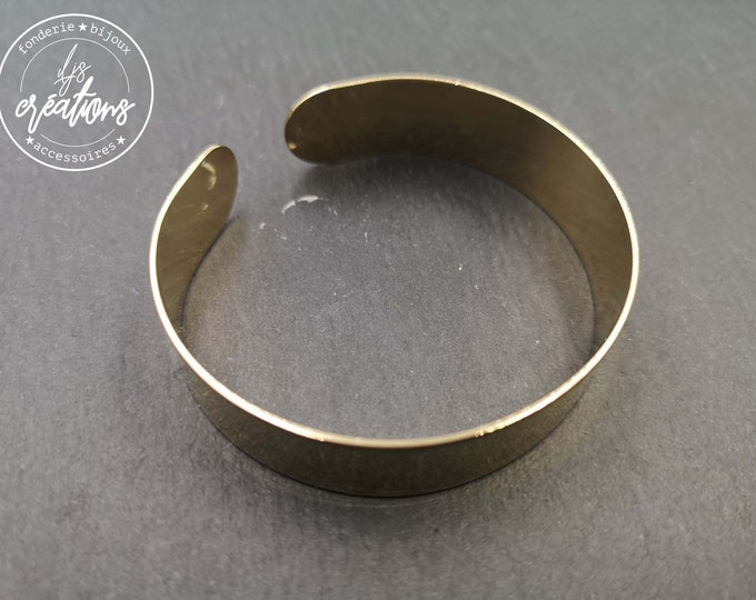 Made in France - 13mm ribbon bracelet - Brass finish