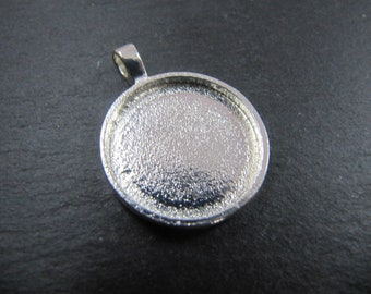 Support pendant o20 5x2mm - finish Tin round 925 Silver - Made in France