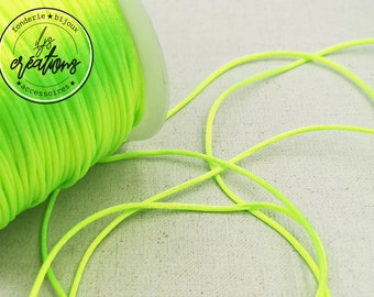 6m of string mouse tail - neon green