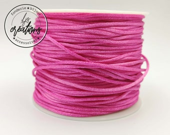 6m of mouse tail cord - Rose Fuschia