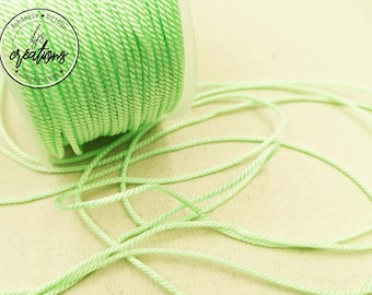 "4m braided cord 2 strands rope type ""Water Green"" - 1.5mm"