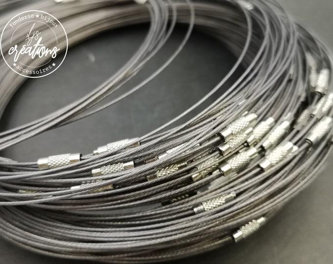 """1 round of cable neck """"dark grey"""" - 45cm"""