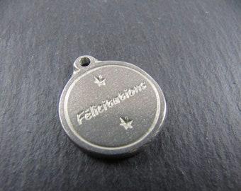 17mm tin medal - Congratulations