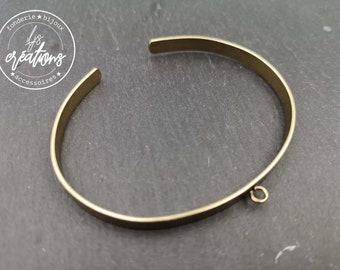 5x1mm ribbon bracelet with 1 ring - Brass finish brass