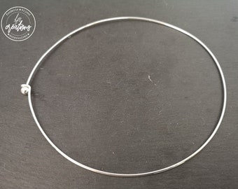 Neck neck ball - 14cm in diameter - Size M - silver finish 925