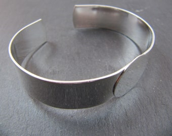Made in France - 13mm ribbon bracelet - tray of 18mm - Silver finish Laiton 925
