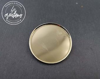 Round brooch - 45x2.5mm brass gold finish