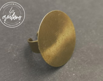 Brass-finished brass ring - made in France