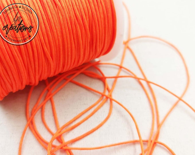 "6m braided cord ""Orange fluo"" -1.5mm"