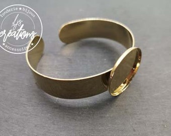 Bracelet holder - 13mm wide with a bowl of 25x2mm - gilded