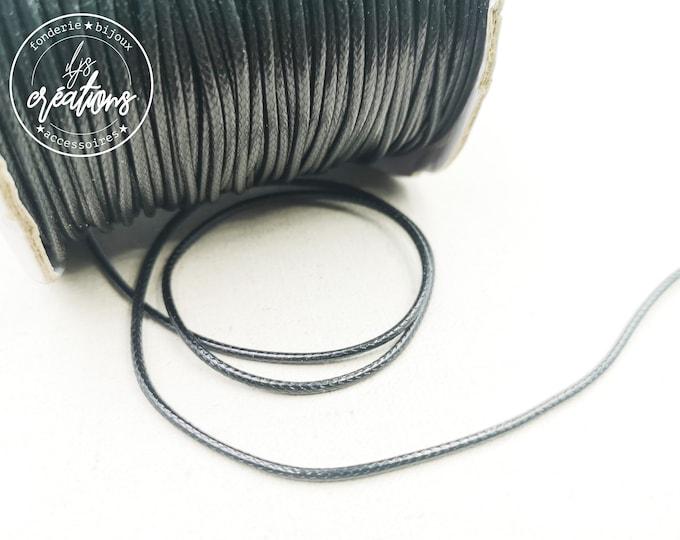 5m waxed cotton cord - Black