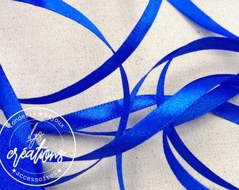 10m - 6mm satin ribbon - Blue