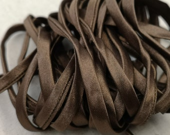 End of stock - 1m spaghetti cord froufrou 7 mm - brown