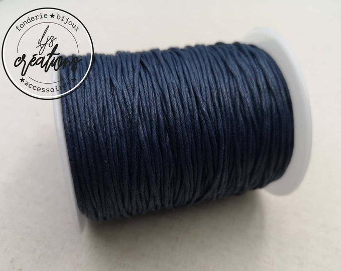 10m waxed cotton cord - BLEU MARINE