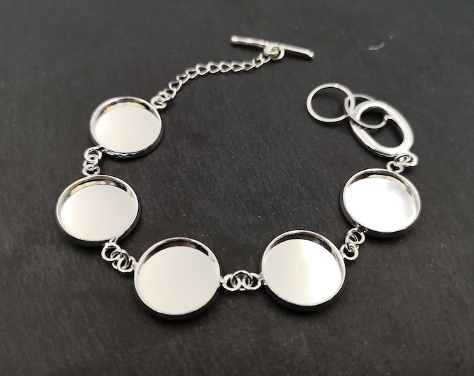 Multi-bowl bracelet of '16mm ' - Laiton finish silver 925
