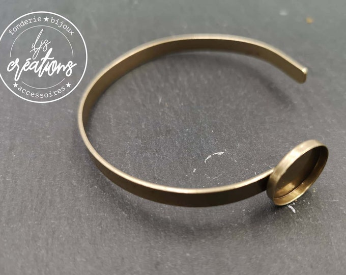 5x1mm ribbon bracelet with bowl - brass finish
