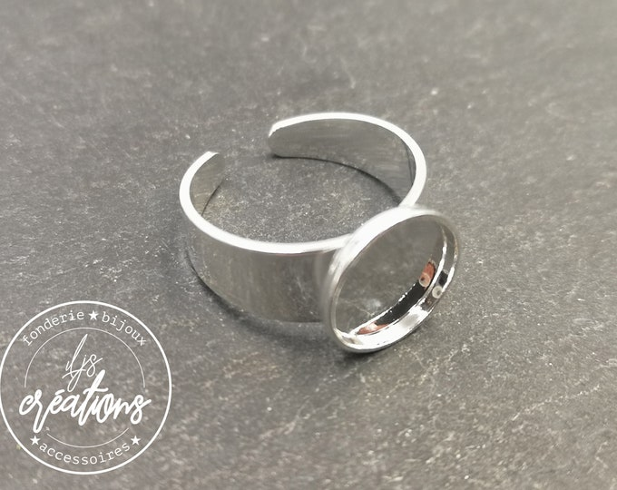 Ring fingers round ø10mm brass Silver 925 - Made in France