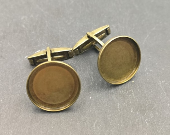 Cufflinks - 18x1.5mm - Brass brass finish Brass