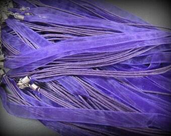 End of stock - 1 organza Choker 45cm purple
