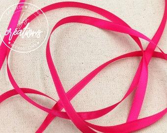 10m - 6mm satin ribbon - Candy Rose