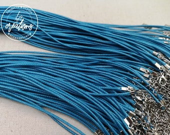 """1 round of neck in cotton """"turquoise blue"""" 2mm"""