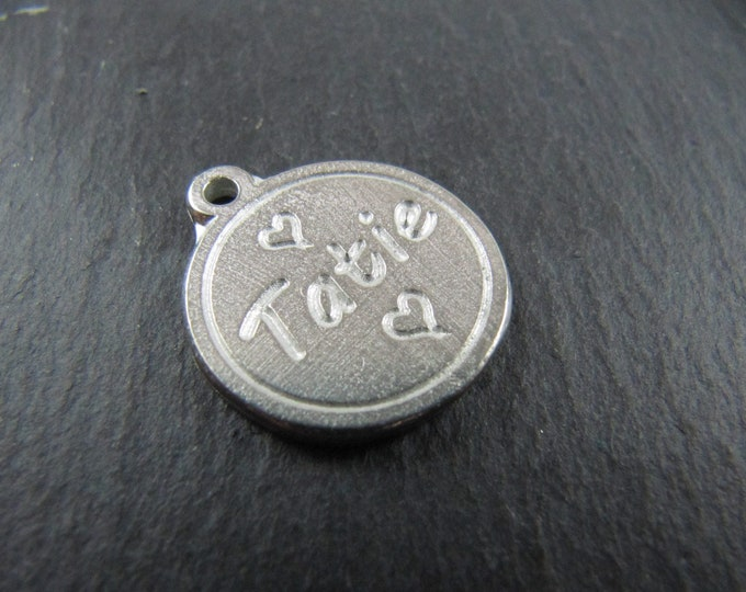 17mm tin medal - Auntie