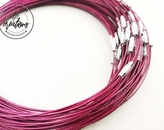 "1 neck neck cable ""Prune"" - 45cm"