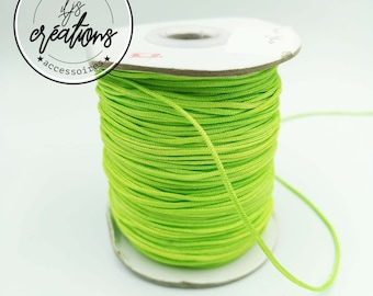 6m of anise-green braided cord - 1.5mm (a little neon)