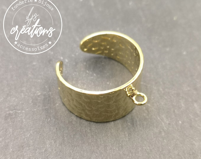 12mm hammered ring support with gold finish brass ring