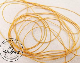 3m elastic cord - mustard yellow
