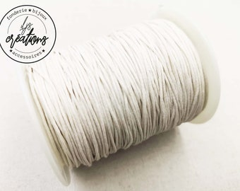 10m waxed cotton cord - Off-white